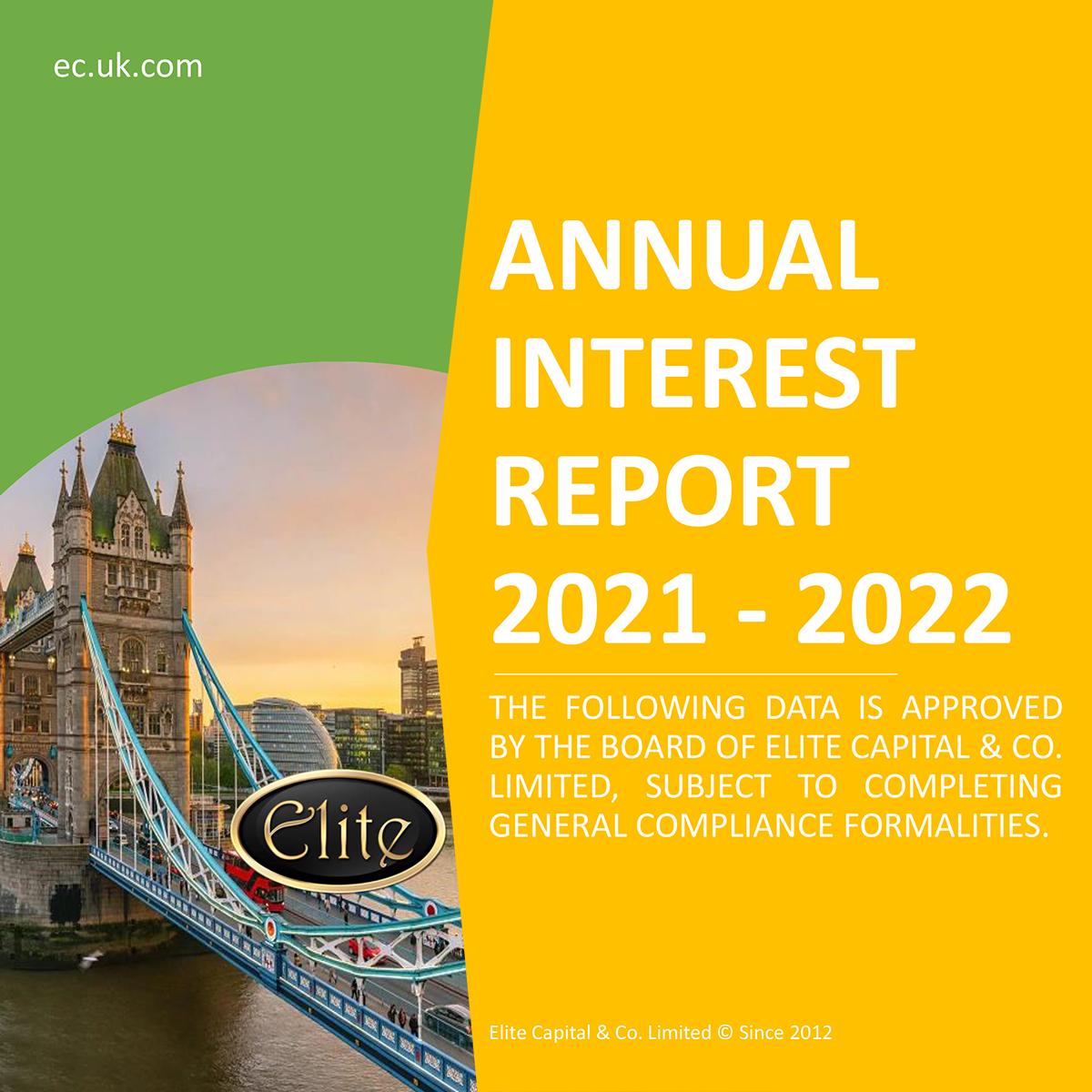 Elite Capital & Co.'s Annual Interest Report 2021 – 2022